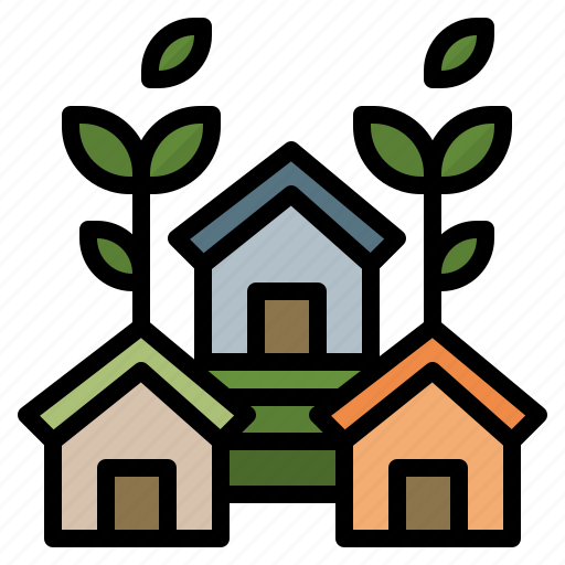 eco, house, nature, realestate, save icon