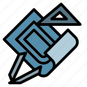 blueprint, construction, project, tool