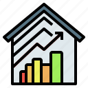 capitalgain, graph, house, investment, realestate