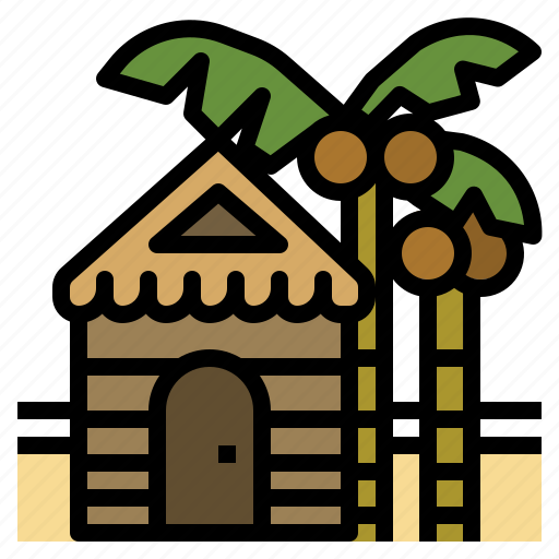 cottage, holiday, hut, realestate, vacation icon