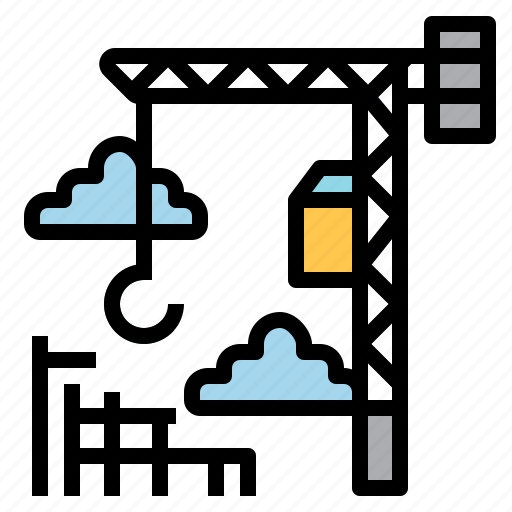 Construction, crane, development, hook, lift icon - Download on Iconfinder