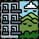 block, flats, highrise, mountain, realestate