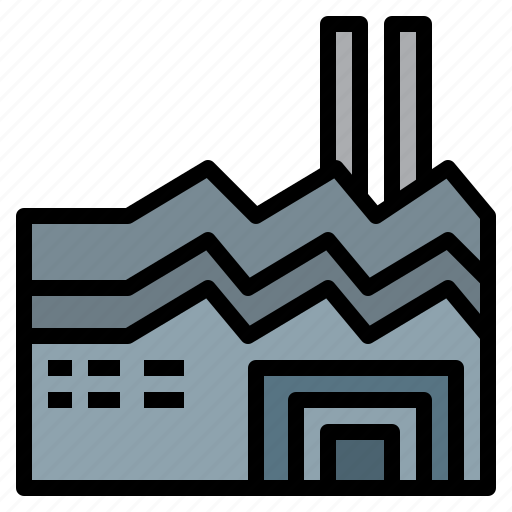 building, factory, industry, manufacturing, realestate icon