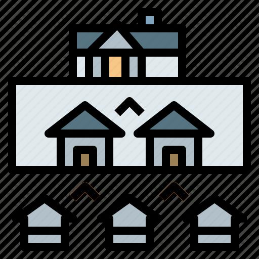 business, mortgage, profits, pyramid, realestate icon