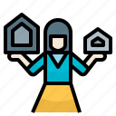 preparehouse, realestate, saleagent, seller, sellhouse icon