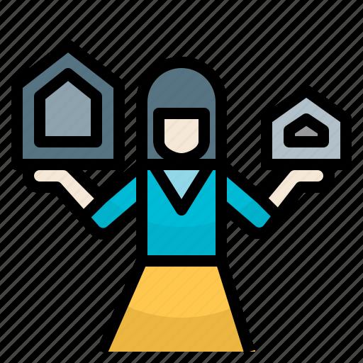 preparehouse, realestate, saleagent, seller, sellhouse icon