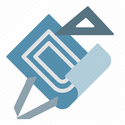 blueprint, construction, project, tool icon