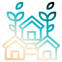 ecohouse, house, nature, realestate, save icon