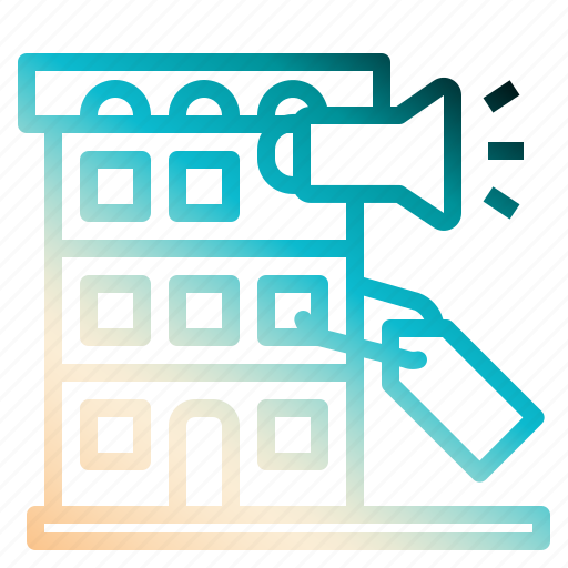 commercial, development, lable, realestate, tags icon