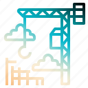 construction, crane, development, hook, lift icon