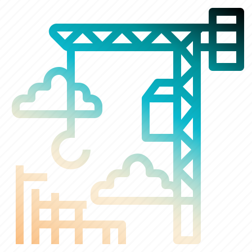 construction, crane, development, hook, lift icon