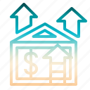 capitalgain, development, house, houseprice, price icon