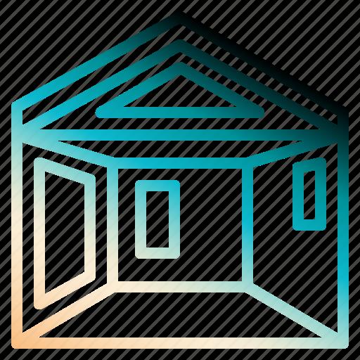 house, interior, planning, realestate, scheme icon