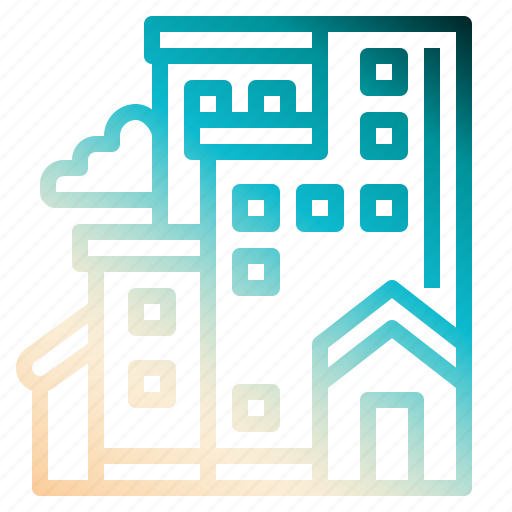 bulding, house, office, realestate icon