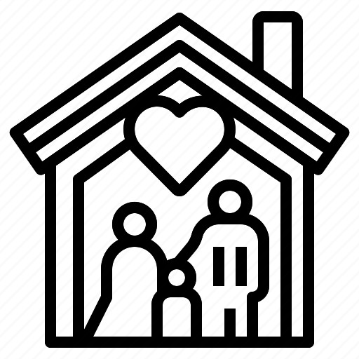 familiar, family, home, house, people icon