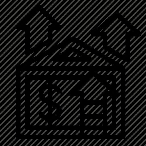 capitalgain, development, house, houseprice, price icon