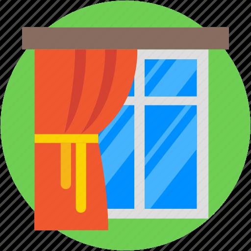 apartment window, home window, living room, window, window frame icon
