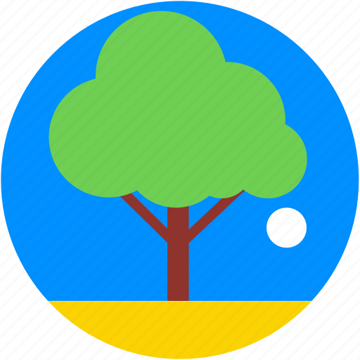 forest, garden, shrub tree, tree, yard tree icon