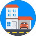 bangalore, car porch, family house, luxury house, palace icon