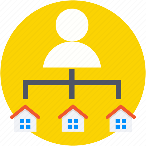 architect, builder, hierarchy, houses, landlord icon