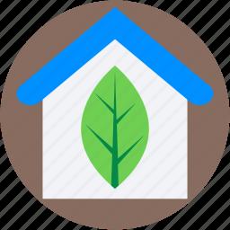 ecology, glasshouse, greenhouse, house, leaf icon