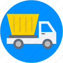 dumper, dumper truck, industrial vehicle, plant machinery, transport icon