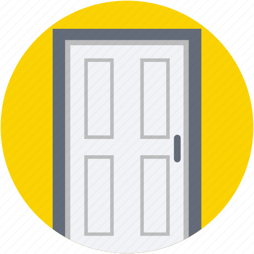 building door, close door, door, entrance, gate icon