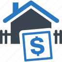 building, business, dollar, finance, home, home value, house, investment, money, price, property, real estate, sale icon