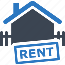 building, construction, fence, home, house, property, real estate, rent, renting, sevice, sign icon