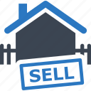 building, business, buy, finance, house, price, property, real estate, sell home, selling, sign icon