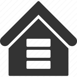 building, data center, database, hosting, house, real estate, storage icon