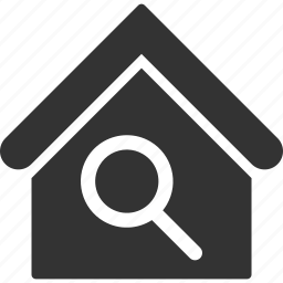building, find, house, locate home, real estate, search, zoom icon