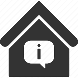 building, hint, home, house, info, information, real estate icon