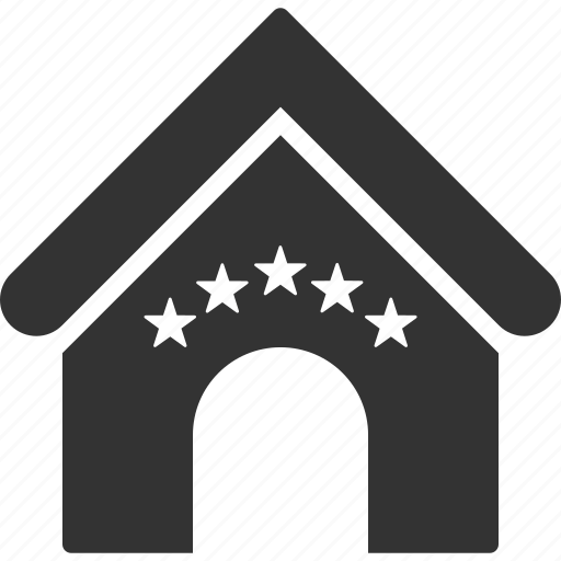 building, home, hotel stars, house, motel, rate, real estate icon