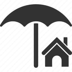 building, home, house, insurance, protection, real estate, security icon