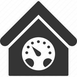 building, dashboard, gauge, home, house, meter, real estate icon