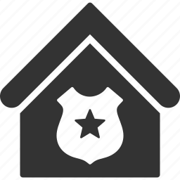 building, home, house, police, protection, real estate, security icon