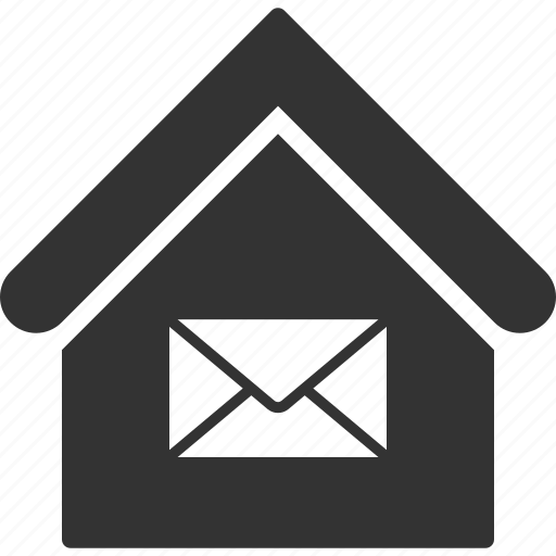 building, communication, home, house, mail, post office, real estate icon