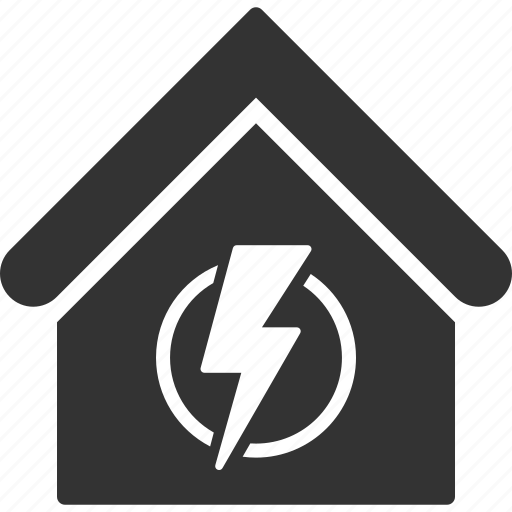 building, electric, electricity, home, power station, real estate, supply icon