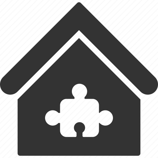 building, component, home, house, plugin, puzzle, real estate icon