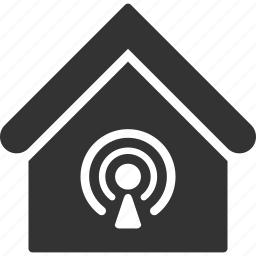 building, home, house, internet, real estate, signal, wifi icon