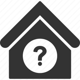 building, home, house, query, question, real estate, status icon