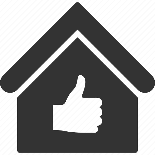 accept, building, home, house, ok, real estate, thumb up icon
