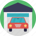 car wash, carport, garage, house garage, service station icon