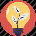 eco idea, ecology, environmental energy, green eco energy, plant bulb icon