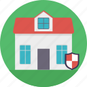 home protection, home security, house shield, property insurance, real estate icon