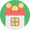 house cost, house financing, mortgage, property tax, property value icon
