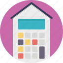 house worth, land valuation, mortgage, property tax, property value icon