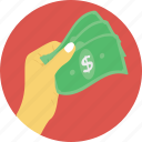 banknotes, cash, finance, money, payment icon