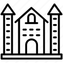 family house, house, mansion, residential building, villa icon